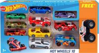 Hot Wheels Promo Pack (10 car Pack+ 1 monster Jam Car) New Edition 2018  (Multicolor)