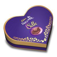 Cadbury Dairy Milk Silk Heart Shaped Valentine Gift Pack (2 x Silk 60g + 2 x Silk Bubbly 50g), 220 g