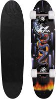 Nivia sk-801-j 6 inch x 24 inch Skateboard  (Black, Pack of 1)