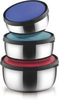 Classic Essentials  - 750 ml, 500 ml, 350 ml Steel Grocery Container(Pack of 3, Multicolor)