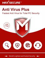 Max Secure Software Anti Virus Plus Version 6 1 PCs, 1 Years (Email Delivery in 2 Hours - No CD)