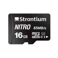 Strontium Nitro 16GB Micro SDHC Memory Card 85MB/s UHS-I U1 Class 10 High Speed