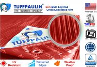 TUFFPAULIN Tarpaulin Waterproof UV Treated 100% Virgin Extra Strong Quality is 14611:2016 Approved (15FTX12FT, RED)