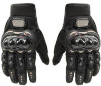 Probiker Gloves Shockproof Foam Padded Outdoor Riding Full Finger Glove For Men Riding Gloves  (Black)
