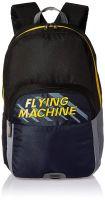 Flying Machine 6 Ltrs Black Blue School Backpack (FMSB0077_Black Blue_OP)