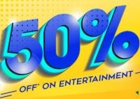 [Select user] 50% Off (Max Rs. 100) on 2 Tickets Booking