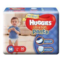 Huggies Ultra Soft Pants Diapers For Boys, Medium (Pack of 30)
