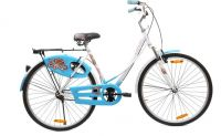 BSA LADYBIRD BLISS FX 26 T Girls Cycle/Womens Cycle(Single Speed, White, Blue)