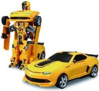 AR Enterprises Robot Transformer Converting Into Kids Toy Car (Yellow)(Multicolor)