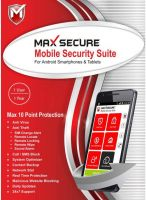 Max Secure 1 Smartphone 1 Year Mobile Security (Email Delivery - No CD)(Personal Edition)