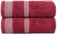 Casa Copenhagen Solitaire 2 Piece 600 GSM Cotton Towel Set - Sugar Coral
