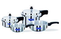 Surya Accent Aluminium 4-in-1 Pressure Cooker, 4-Pieces, Silver