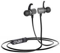 Qybo Bluetooth in-Ear Hook Earphones with Microphone Gunmetal + Carry Case