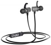 [Prime] Qybo Bluetooth in-Ear Hook Earphones with Microphone Gunmetal + Carry Case