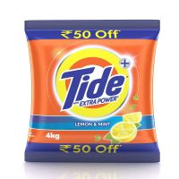 [Rs.200 Cashback] Tide Plus Detergent Washing Powder with Extra Power Lemon and Mint Pack - 4 kg ( 50 off)