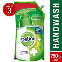 [Pantry] Dettol Germ Protection Handwash Refill - 750 ml (Original, Pack of 3)