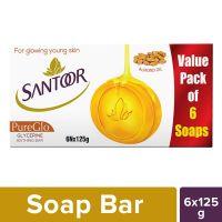 Santoor Glycerine PureGlo Soap 125g (Pack of 6)