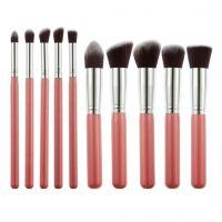 Generic Foundation, Eyeshadow Makeup Brush Set, Pink (Set Of 10)