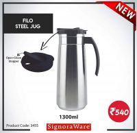 Signoraware Filo Steel Jug 1.3ltr, Silver