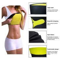 Dtex Sweat Waist Belt | Belly Tummy Yoga Wrap Black Exercise Body Slim Look Belt -115 cm