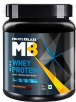 MuscleBlaze 100% Whey Protein  (400 g, Rich Milk Chocolate)