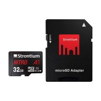 Strontium Nitro A1 32GB Micro SDHC Memory Card 100MB/s A1 UHS-I U1 Class 10 with High Speed Adapter