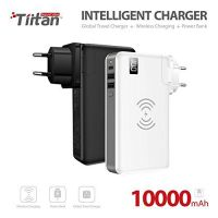 TIITAN Wireless Intelligent Charger,10000 mAh Portable Power Bank Detachable USB Wall Charger Multi-Protection