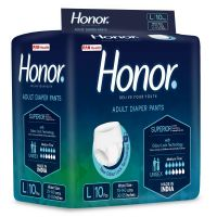 Honor Adult Diaper Pants, Large - 10 Count (75-140 Cms |30-55 inches)