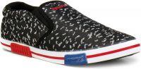 [Size 8, 9] SparxSparx Men Black Slip on Sneakers Canvas Shoes For Men(White, Black)