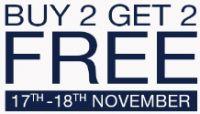 GAP Brand Day Buy 2 Get 2 Free 17th - 18th Nov