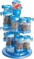 Ritu Plastic Revolving Spice Rack, Blue