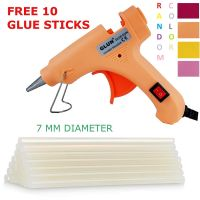 [LD] 20 WATT 7MM HOT MELT Glue Gun with ON Off Switch and LED Indicator (Free 10 Transparent Glue Sticks)