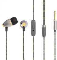 KandP ROSE BX-07 Wired Headset with Mic(Gold, Grey, In the Ear)