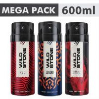 Wild Stone Ultra Sensual+ Red+Legend Combo Deodorant Body Mist  -  For Men(600 ml, Pack of 3)