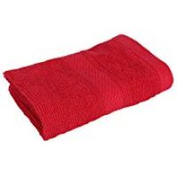 Ivy HomeStop Slub Textured Terry Cennet Face Towel (Red, Free Size)