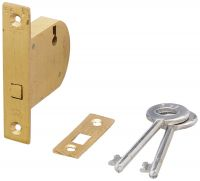 Harrison H-0523 45mm Brass Three Lever Ht Sliding Lock Set (Silver)