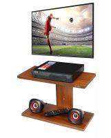 Anikaa Saffron TV Wall Unit/TV Entertainment Units/Wall Mounted TV Set Top Box Stand/DVD Wall Shelf/Display Unit Walnut Finish- Plain
