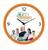 Efinito 11.75 Inches Designer Main Bhi Chowkidar Wall Clock For Home/Living Room/Bedroom/Kitchen