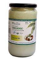 Farm Naturelle -100 % Pure Organic Extra-Virgin Cold Pressed Coconut Oil (Glass Bottle - 750 ml)