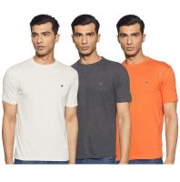 [Size S, M, L] Ruggers by Unlimited Men's Solid Regular Fit T-Shirt (Pack of 3)(Colors & Print May Vary)