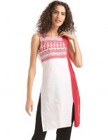 [Size L] Karigari Colour Block Sleeveless Kurta