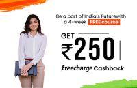 Shaw Academy - 1 Month Free Premium Membership + 250 Freecharge CB at Freecharge