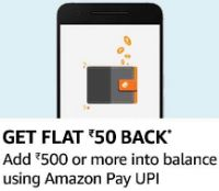 [For Specific Users] Rs.50 Cashback on Load Money of Rs.500 Using UPI