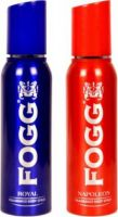 Fogg 1 Royal and 1 Napoleon Deodorant Combo Pack of 2 Deodorant Spray  -  For Men(300 ml, Pack of 2)