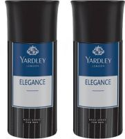 Yardley London Men Elegance 150ML Each (Pack of 2) Deodorant Spray  -  For Men  (300 ml, Pack of 2)