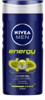 Nivea Men Shower Gel, Energy Body Wash, Men, 250ml