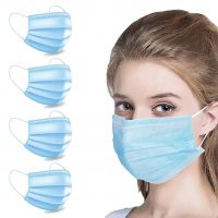 Billebon Nose Mask-3Ply Disposable Mouth Dust Pollution Mask (Pack of 4)