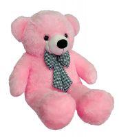 Webby 3 Feet Huggable Teddy Bear with Neck Bow (Pink)