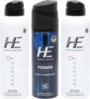 HE Combo pack Perfume Body Spray  -  For Men(420 ml)