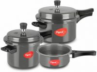 [Pre-Book] Pigeon Special Combi 2 L, 3 L, 5 L Induction Bottom Pressure Cooker  (Hard Anodized)